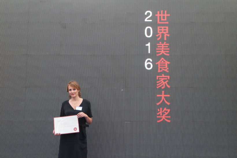 Sofie Dumont wint 'World Gourmand Cookbook Award' in China