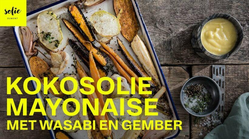 Kokosolie mayonaise met wasabi en gember