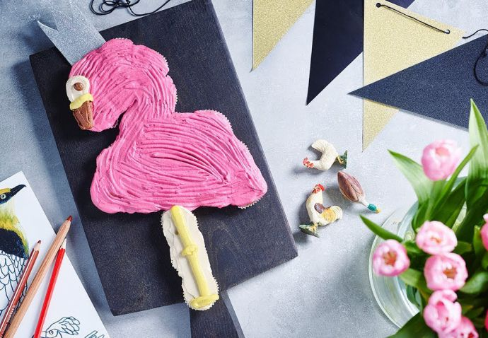 Flamingo feesttaart