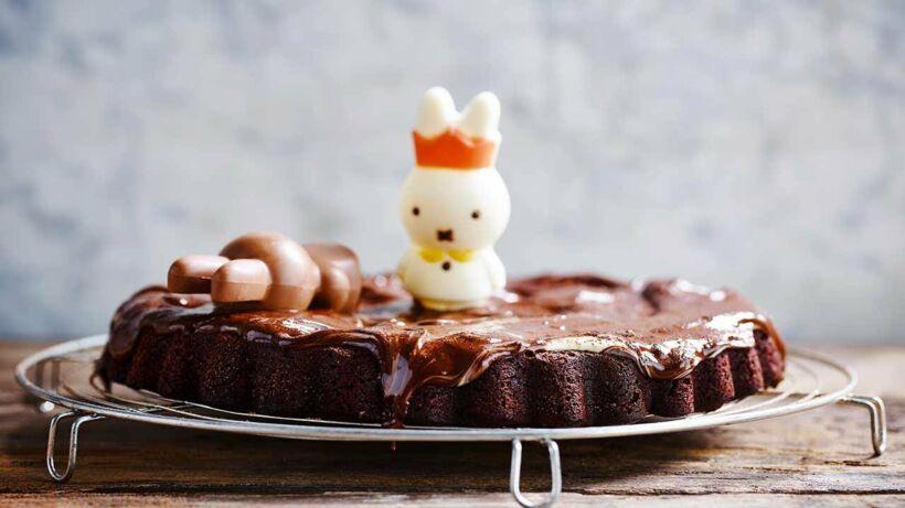 Tarte au chocolat d'œufs de pâques