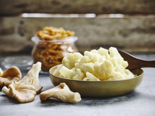 Volkoren pasta met oesterzwam, bloemkool door Sofie Dumont