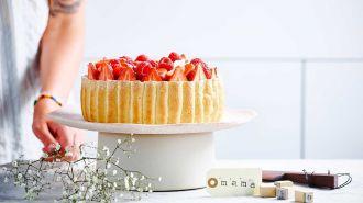 Tiramisutaart met aardbeien