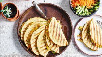 Quesadilla's met tonijn en avocado