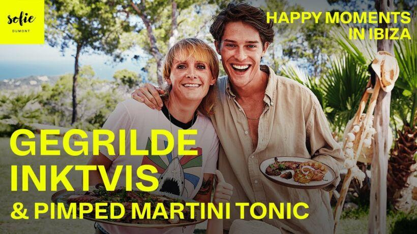 Gegrilde inktvis en pimped Martini tonic met Cesar Casier