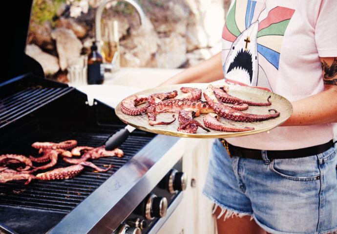 Octopus in Ibiza op de gril met Sofie Dumont