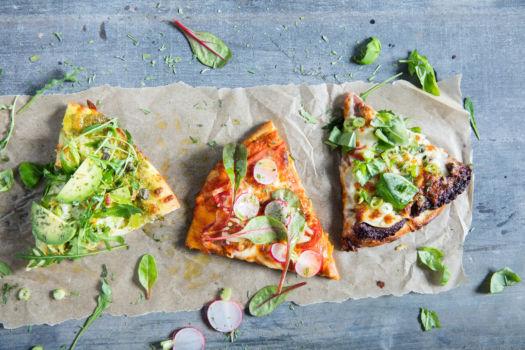 Pizza met 3 pesto's