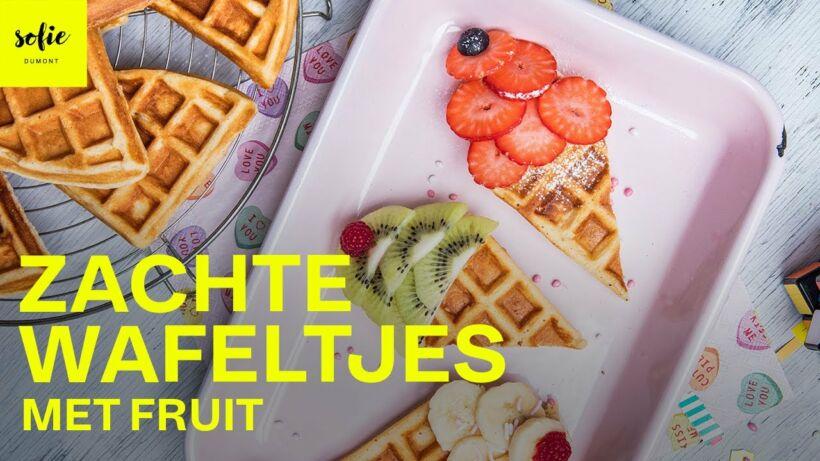 Zachte wafeltjes met fruit