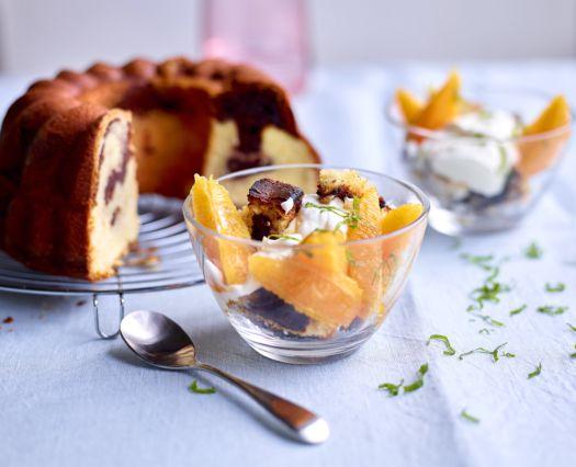 Sofie Dumont Marmercake toastjes met yoghurtcrème en sinaasappelen
