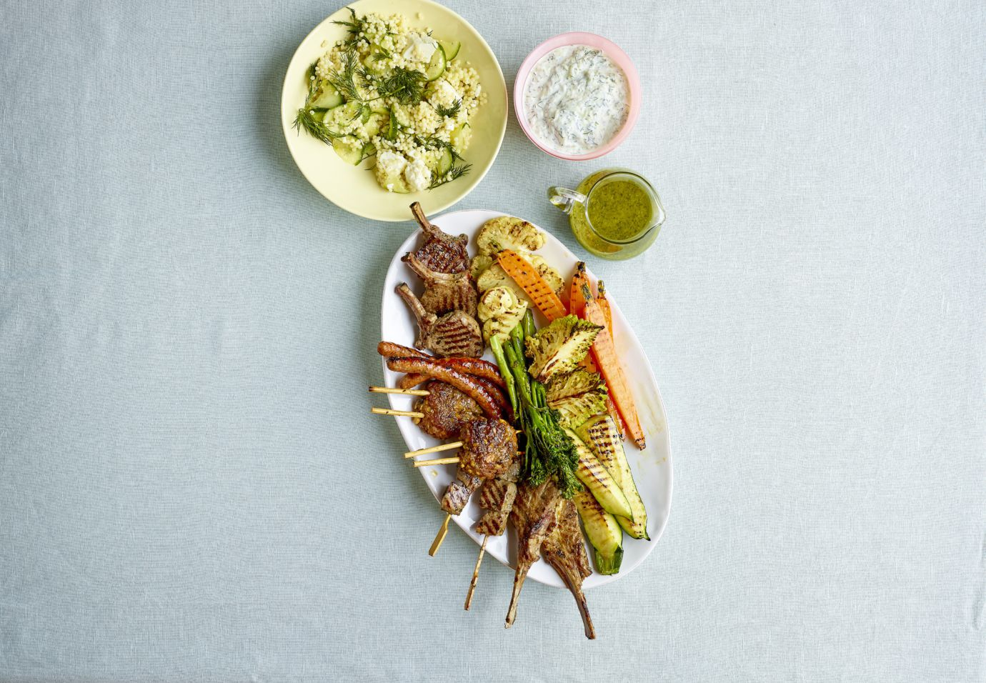Sofie Dumont Mixed grill van lam met fijne groentjes