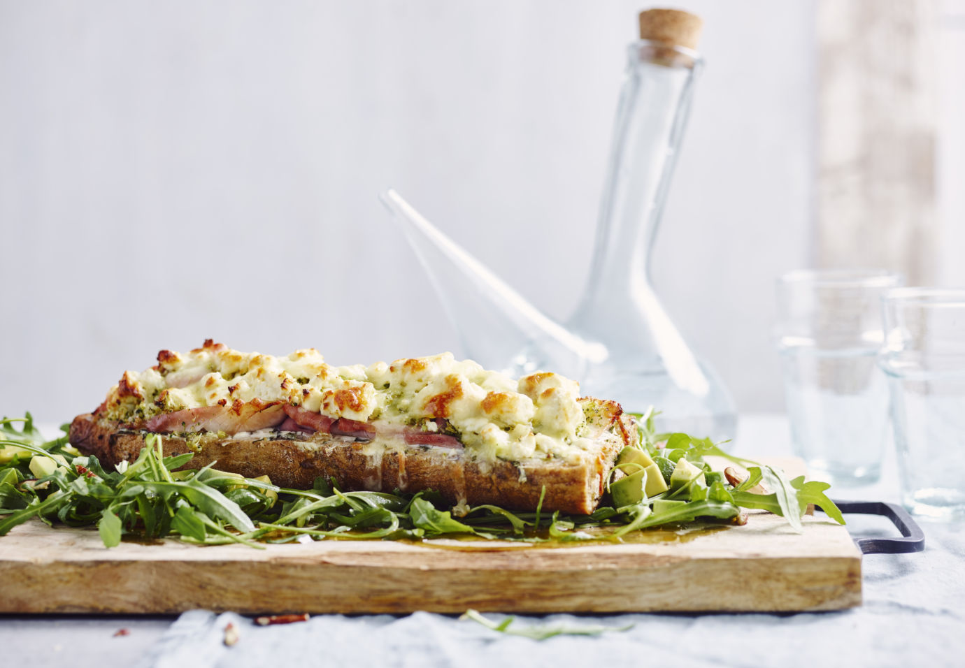 Sofie Dumont baguette met broccoli, feta en ovengebakken ham