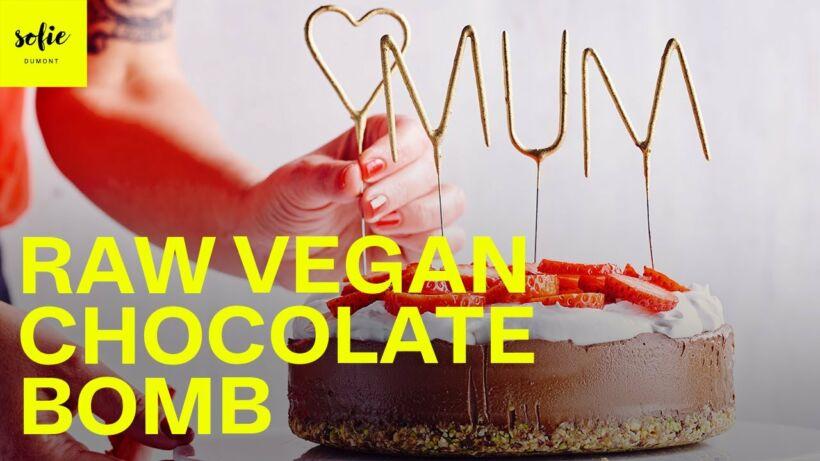 Raw vegan chocolate bomb