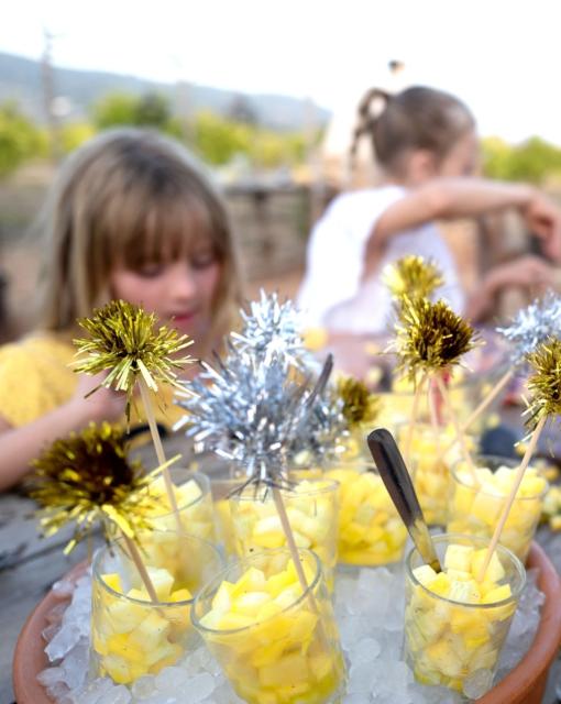 Ibiza 2019: Apero glaasjes met mango en courgette door Sofie Dumont