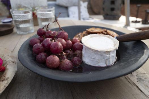 Cheesecake met pompoenpittenkorst en aardbeien door Sofie Dumont