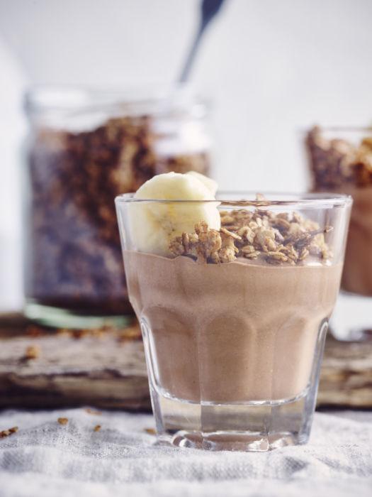 Chocolade pudding met speculoos havermout voor 6 glaasjes door Sofie Dumont