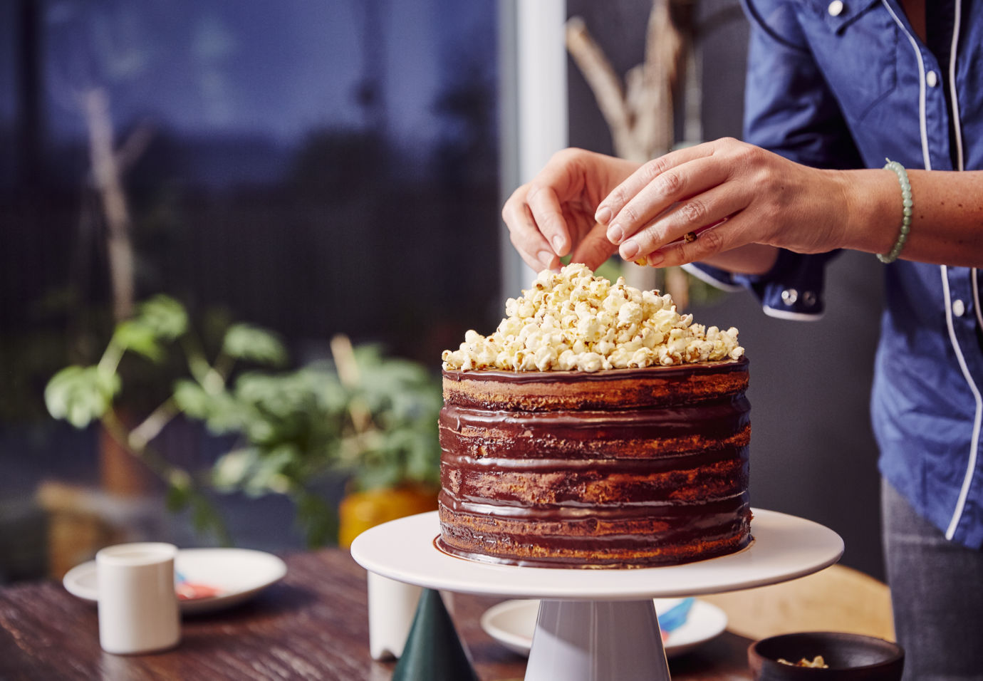 popcorn birthday cake