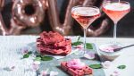 Red velvet wafel en temptation mocktail