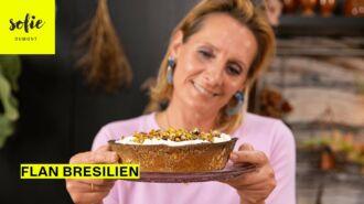 Tarte au flan avec une brésilienne de pistaches