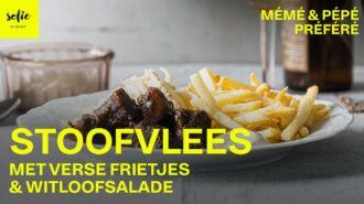 Stoofvlees met verse frietjes en witloofsalade