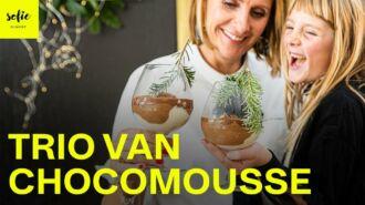 Trio van chocomousse