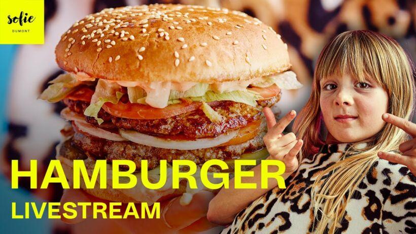 Hamburger met verse saus