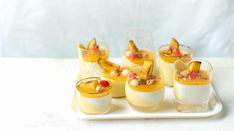 Duo's van panna cotta met mango en vanille