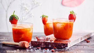 Icetea van gojibes en aardbei