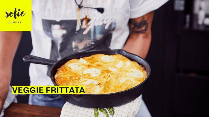 Courgette Frittata met maïs en courgette