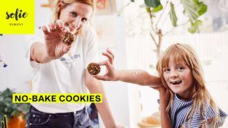 No Bake Dadel Havermout Cookies