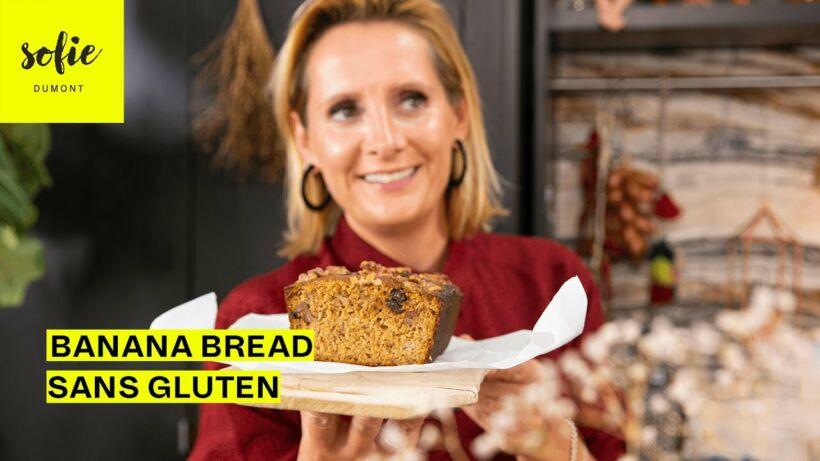 Bananabread sans gluten aux noix et au chocolat