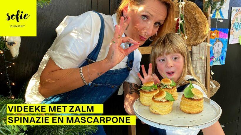 Bladerdeeg met zalm spinazie en mascarpone