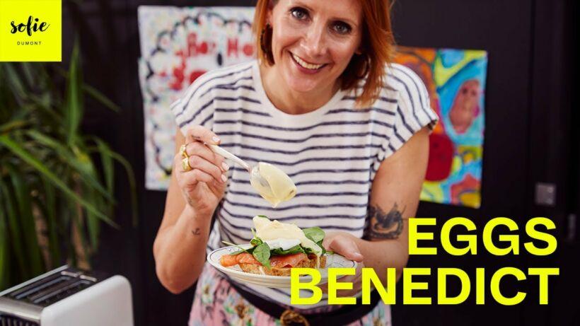 Eggs Benedict met gerookte zalm en spinazie