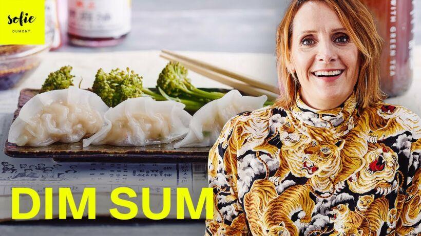 Dim sum avec des crevettes
