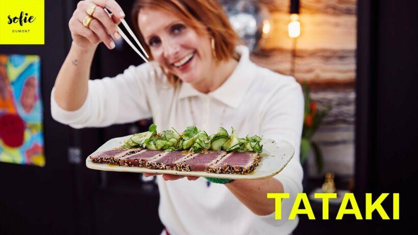 Tataki de thon rouge et salade de concombre