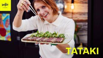 Tataki van tonijn met komkommersalade