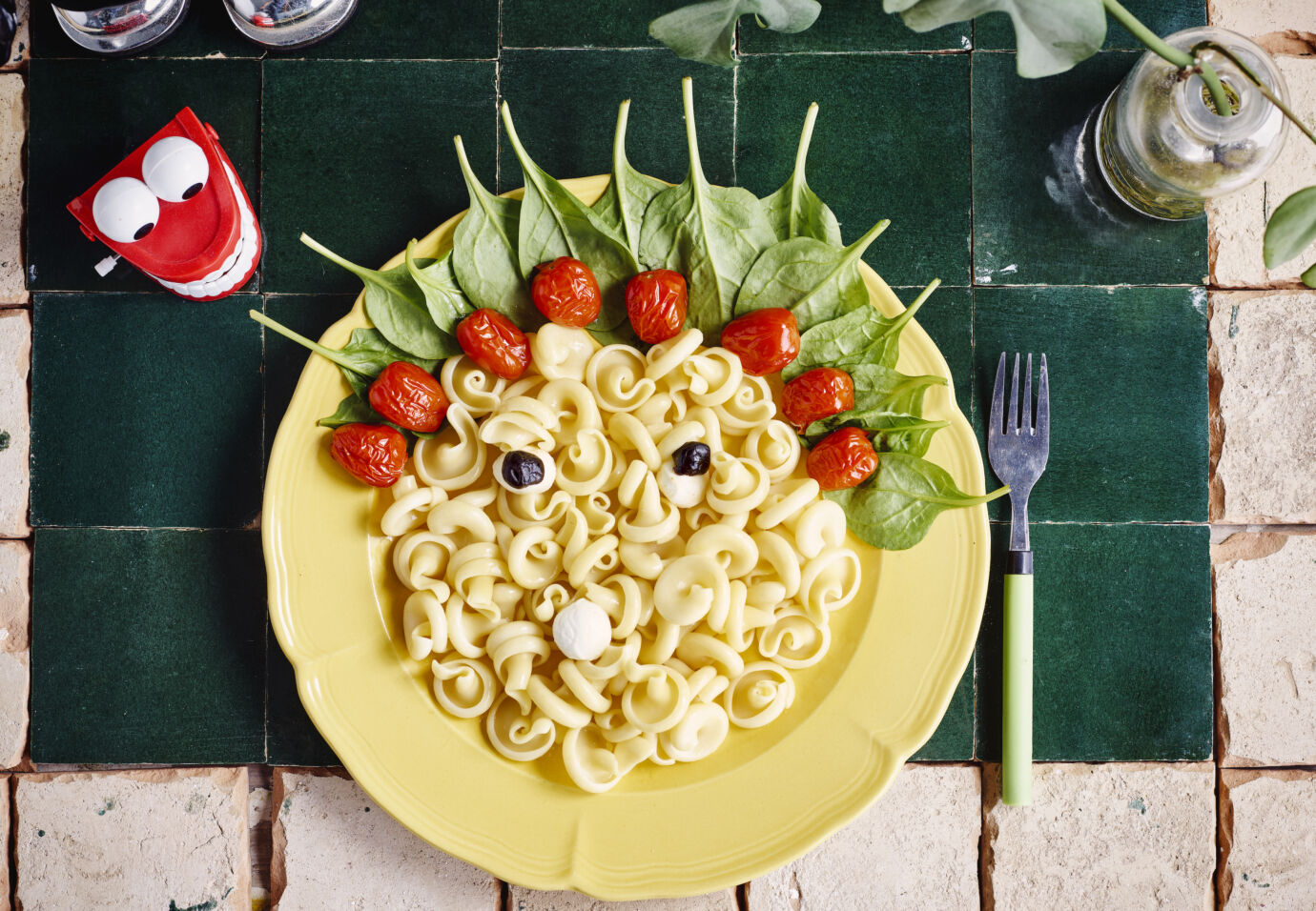 Spinazie-met-pasta-en-gepofte-tomaatjes-door-Sofie-Dumont