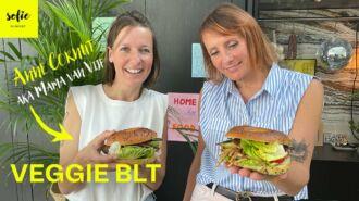 Vegetarische BLT met pulled pork en crispy 'Facon'