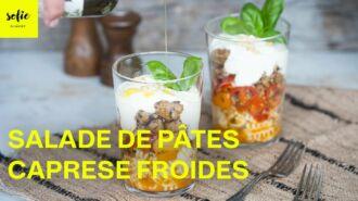 Salade de pâtes froides 'Caprese'