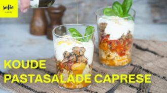 Koude pastasalade 'Caprese'