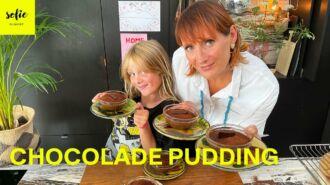 Gestoomde chocoladepudding