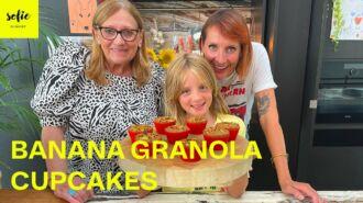 Bananen granola cupcakes